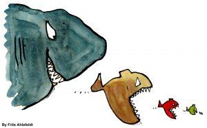 Big Fish Eating Small Fish